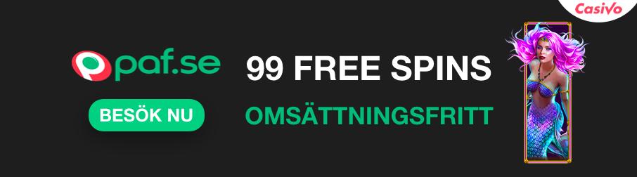 99 free spins omsattningsfria casivo jackpottspel banner