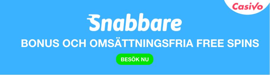 SNABBARE CASINO BONUS BANNER UTAN OMSÄTTNINGSKRAV CASIVO SE