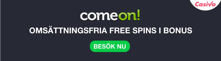 comeon ny bonus free spins somsättningsfri casivo se