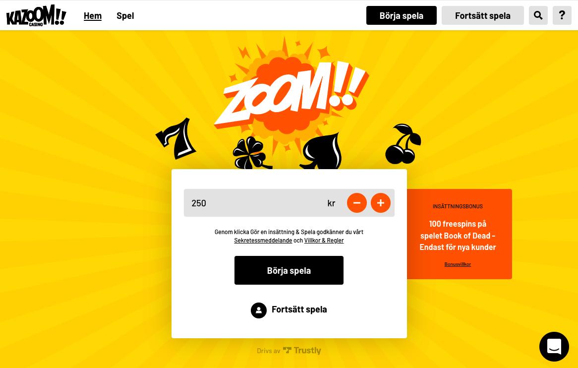 kazoom casino forhandsvisning casivo se