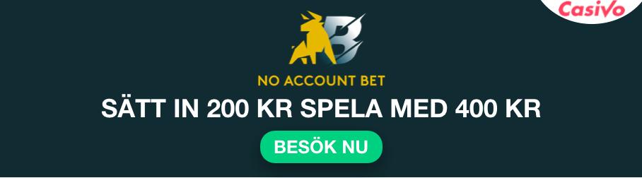 no account bet betting bonus casivo se